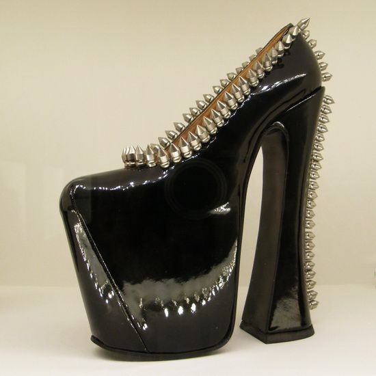 Exhibition S.H.O.E.S., Kunsthal Rotterdam (Extremely high platform pump with metal studs, Vivienne Westwood - 1993)