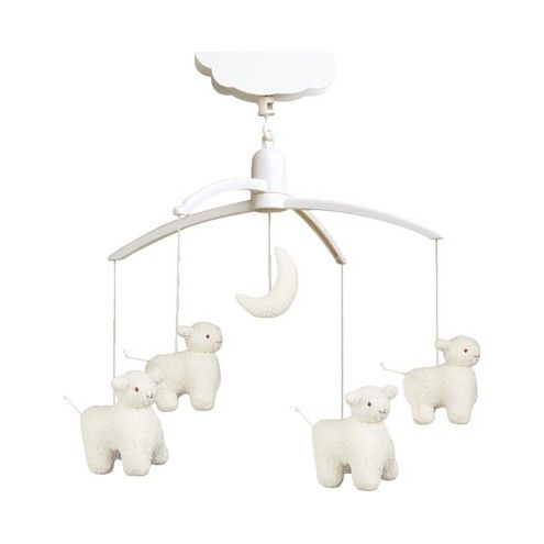 Mobile musical moutons blancs