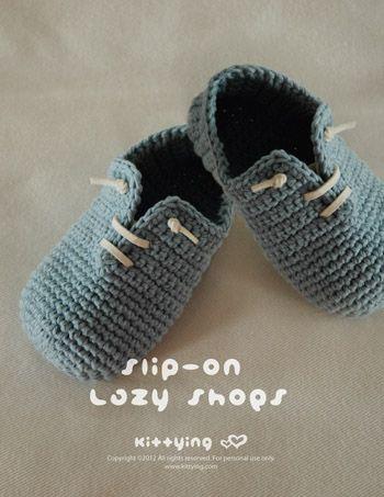 Slip-On Lazy Shoes Crochet PATTERN, PDF