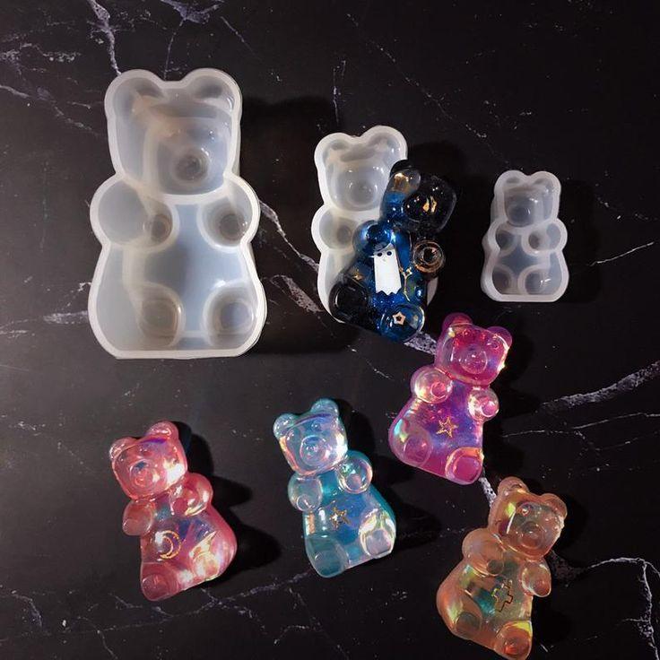 104 SHINY Gummy Bear Silicone mold 3 sizes Silicone