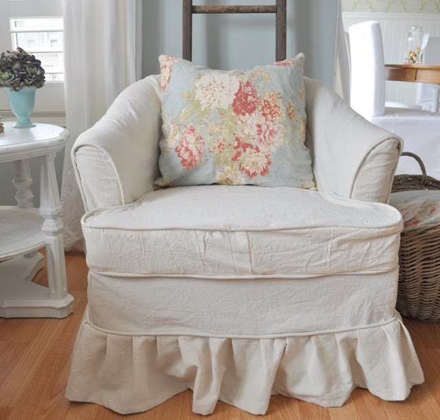 DIY Restoration House New Dropcloth Slipcover Drop Cloth SlipcoverSlipcoversLiving Room