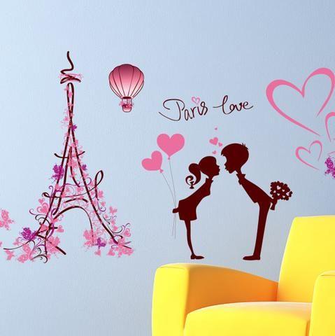 Kids Wall sticker Paris with love children's bedroom wall sticker