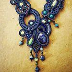 "Febrini Ananda Nasution (@_a.nanda) on Instagram: ""turqouise and red #soutache #soutachemania #necklace #accessories #fashion #fashionista #handmade…"""