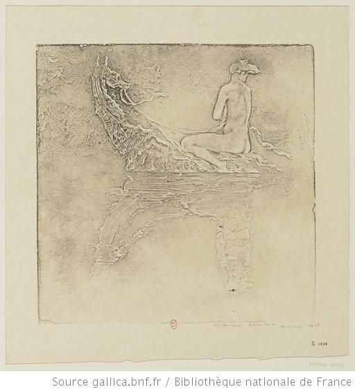 La sirène : [estampe] / gypsographie Pierre Roche