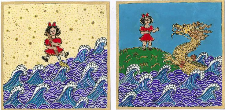 A tengert rajzoló kislány: a kreatív erők felébresztése, 2014 febr. Egyik álmomban egy magányos kislány ült a sivatagban. Tengert rajzolt, a víz valóságos lett. Egy segítőkész sárga sárkány úszott a partra, a táj élettel telítődött.