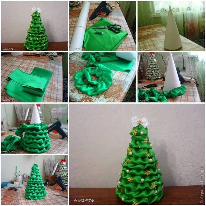 Christmas Tree Facebook Cover Photo: Fabric Christmas Tree