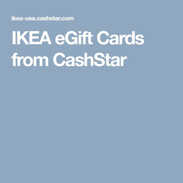 IKEA eGift Cards from CashStar