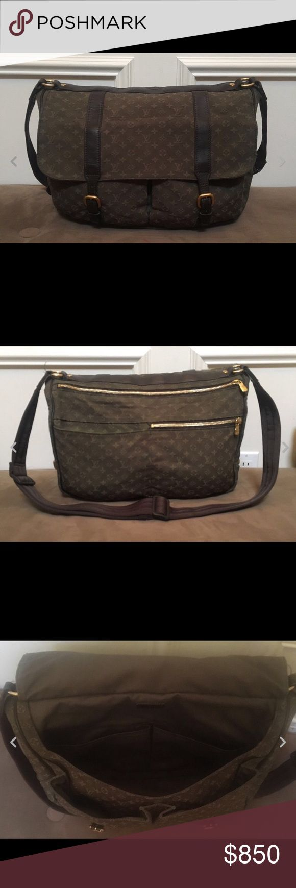 Louis Vuitton canvas diaper bag Louis Vuitton brown canvas monogram diaper bag with removable changing pad. Like new with minimal to no wear! Louis Vuitton Bags Baby Bags