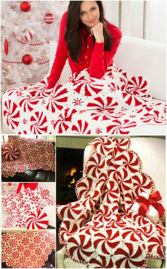 Free Crochet Peppermint Swirl Afghan - 31 Free Crochet Patterns That You will in Love with | 101 Crochet