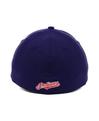 New Era Cleveland Indians Mlb Team Classic 39THIRTY Stretch-Fitted Cap - Blue S/M