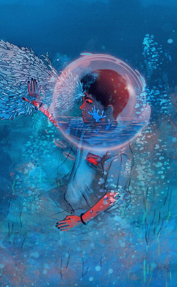 Pablo, the whale kid by Carolina Rodriguez Fuenmayor, via Behance