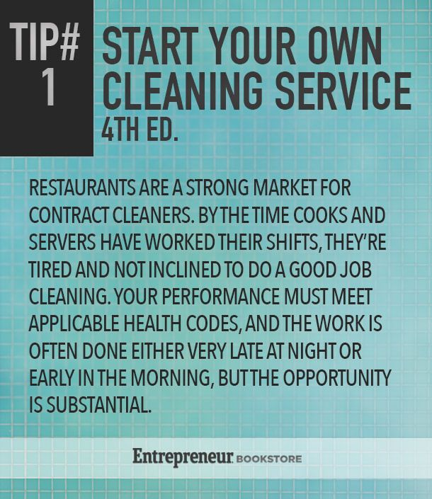 Start Your Own Cleaning Service, 4th Edition   Entrepreneur Bookstore