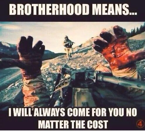 The real definition of Brotherhood..