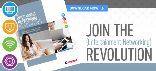 """To assist homeowners in understanding these emerging networking trends, On-Q/Legrand has just released a new white paper, """"The Entertainment Networking Revolution."""" In this free document, they discuss the evolution of the home network and how you can capitalize on the accelerating opportunity to provide complete home network solutions. www.homecontrolsblog.com"""