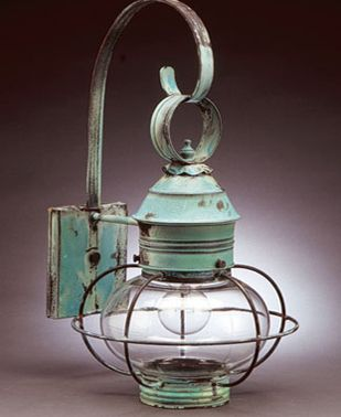Like the patina on this lantern...great for the beach!