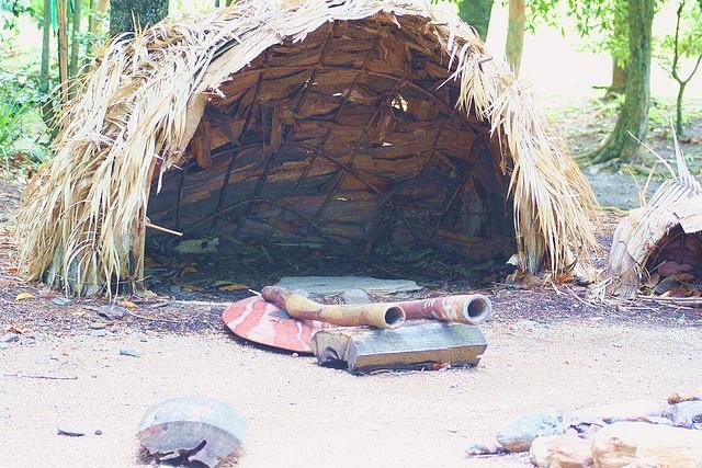 Australia Traditional aboriginal housing by lorliw, via Flickr
