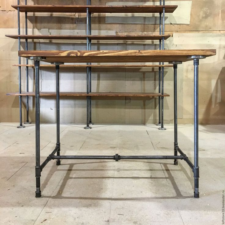 Купить Стол WEST SIDE - коричневый, стол, стол из труб, купить стол, стол на заказ