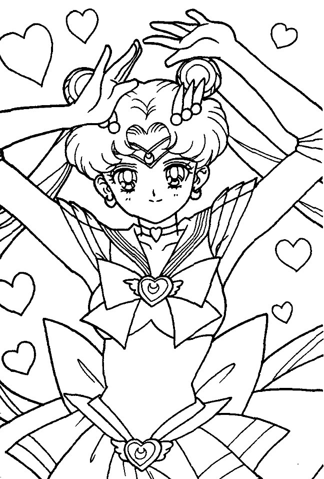 super sailor moon coloring pages