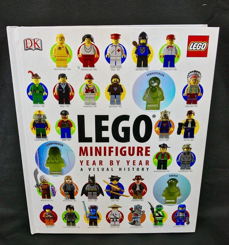 Lego Book MiniFigures Year By Year hardback A visual history characters dk
