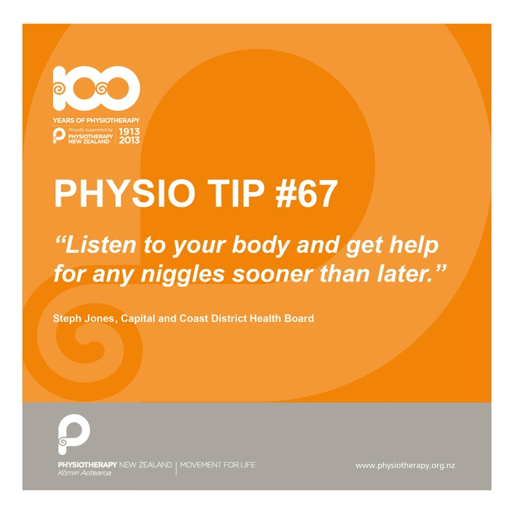 #physio tip - listen to your body
