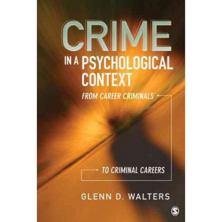 Crime in a psychological context : from career criminals to      criminal careers / Glenn D. Walters. -- Thousand Oaks, Calif. :      SAGE, c2012 http://absysnet.bbtk.ull.es/cgi-bin/abnetopac01?TITN=512642