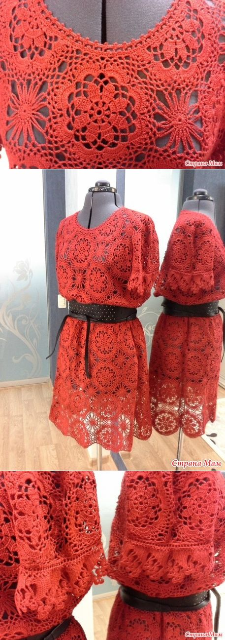 Платье крючком 'Эротика' - Вязание - Страна Мам