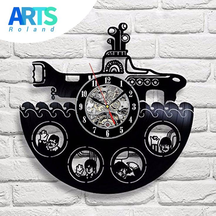 the beatles rock band yellow submarine vinyl record design wall clock decorate your home with famous rock band style music art best gift for man woman