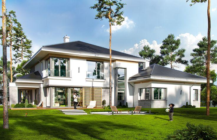 Projekt domu Spokojny zakątek - wizualizacja tylna #design #projekt