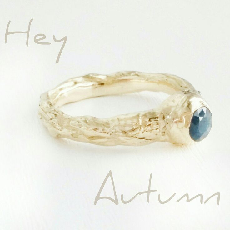 I made this engagement ring for close friends that just got engaged.  The ring is inspired by tree branches 🌳🌿🍁🍂💍  September birth stone is blue sapphire. #ring #engagementring #gold #bluesapphire #autumn  #september #hadarsharonjewelry #hadarsharon