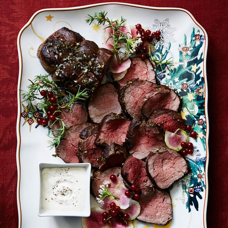 A beef tenderloin roast is the ultimate centerpiece for a holiday feast. Here, fresh herbs blended with butter form a delectable crust as the meat roasts ... read more
