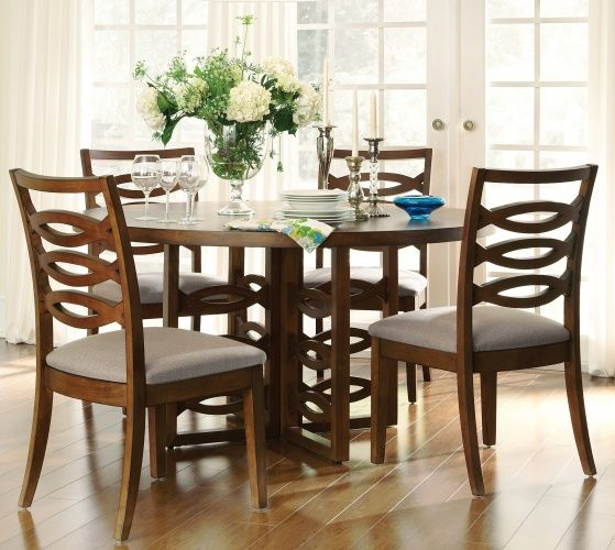 Balanchine Pedestal Table 599 And Aurora Wood Back Side Chair 230 From Claire De Lune Collection Dump FurnitureDining