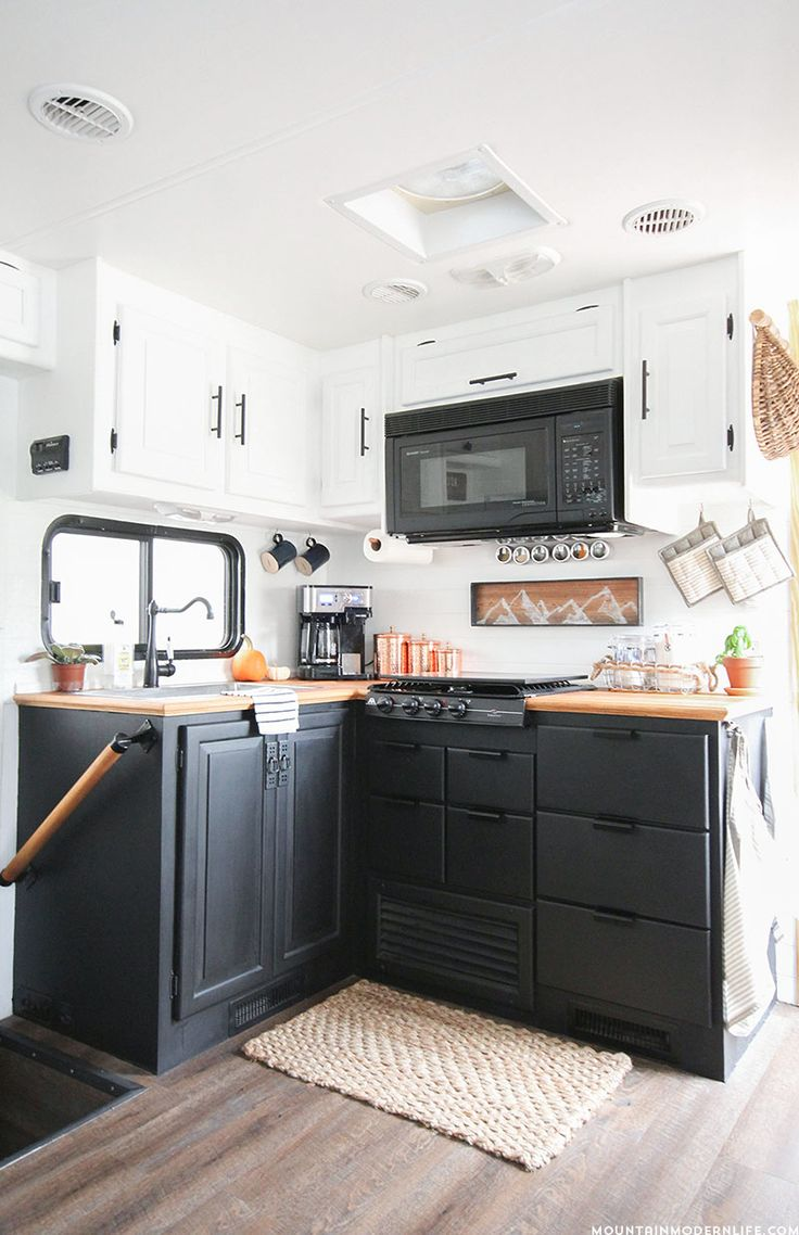 Diy rv interiors - Painted Rv Kitchen Cabinets