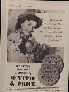 Vintage McVities biscuits ad (1950s)