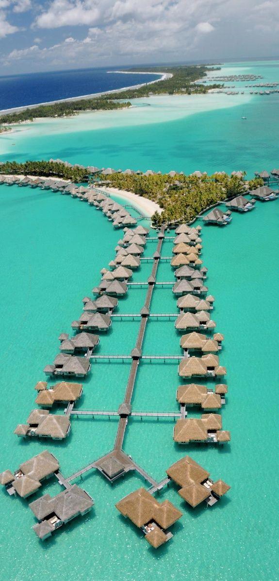 THE ST. REGIS BORA BORA RESORT, FRENCH POLYNESIA. I would love to go there!!