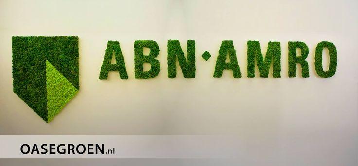 Het logo van ABN AMRO in een duurzaam groen jasje