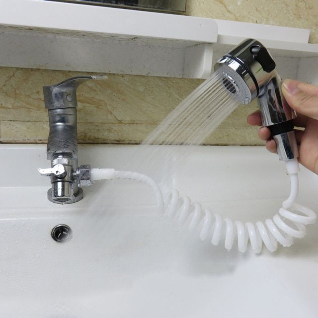 Faucet Shower Head Bathroom Spray Drains Strainer Hose Sink In