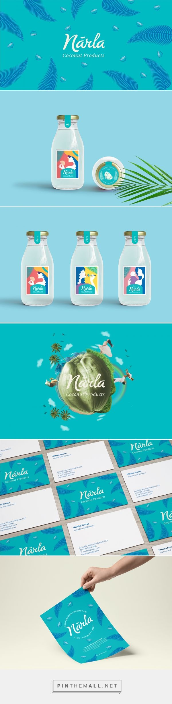 Narla Coconut Product Packaging by VillaCMYK Design | Fivestar Branding Agency – Design and Branding Agency & Curated Inspiration Gallery #packaging #packagingdesign #branding #brandidentity #design #designinspiration