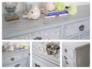 Milk paint  vintage dresser