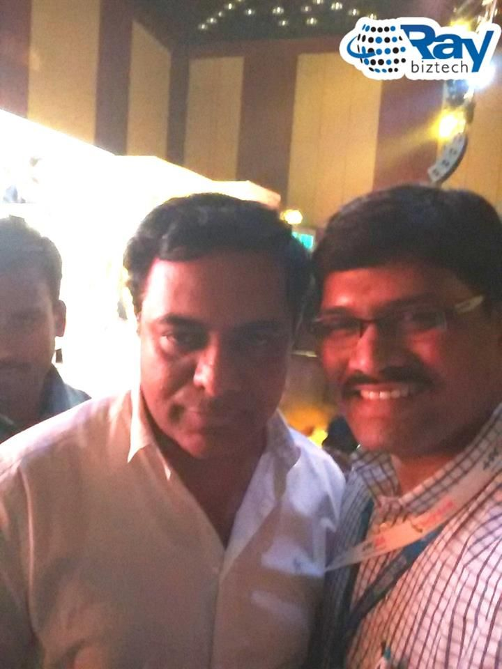 Raybiztech‬ Team with IT, Panchayat Raj and MAUD Minister of ‪Telangana‬, Sri KT Rama Rao (‪KTR‬) at a conference organized by ‪‎HYSEA‬ Annual Summit & Awards 2016 held at Novotel Hyderabad on 31st March.Minister for IT, Telangana