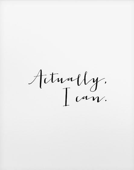 printable typographic poster // Actually I can print // instant download print /…