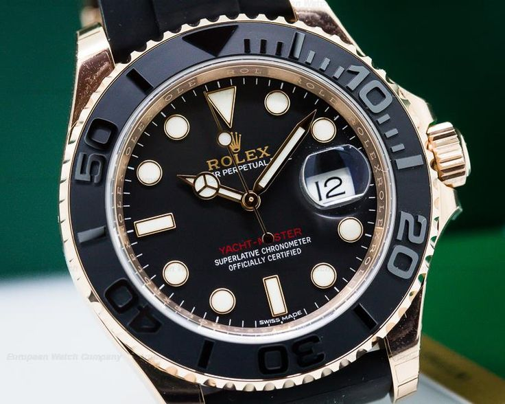 Rolex 116655 Yacht Master Oyster Perpetual Date, 18K rose gold on a black rubber strap with 18K rose gold deployant buckle, automatic, date, sweep second hand, rotatable bezel, COSC, luminescent hands and hour indicators, screw-down crown, sapphire crystal, water resistant, size: 40mm, thickness: 11.2mm, scrambled series (2016), Unworn with box and papers dated 03 / 2017.