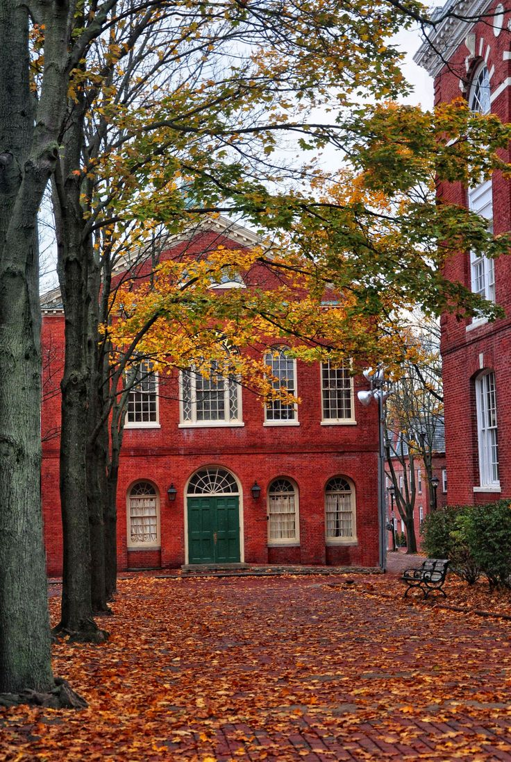 Old Town Hall (Salem, MA) in the fall.