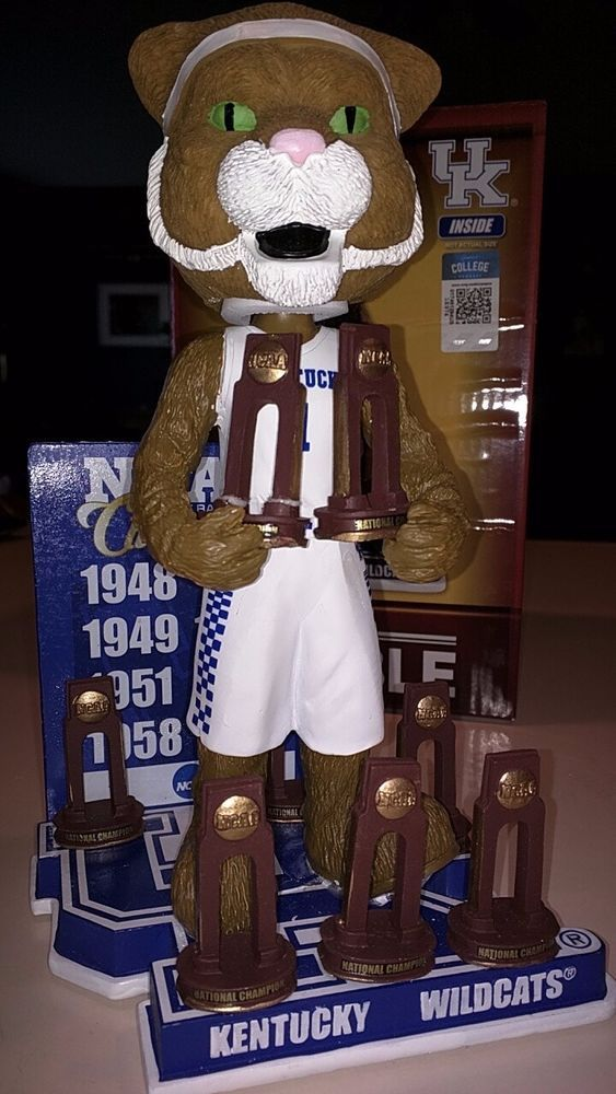 Kentucky Wildcats UK Mascot Championship Trophy Bobblehead Limited Edition  | eBay