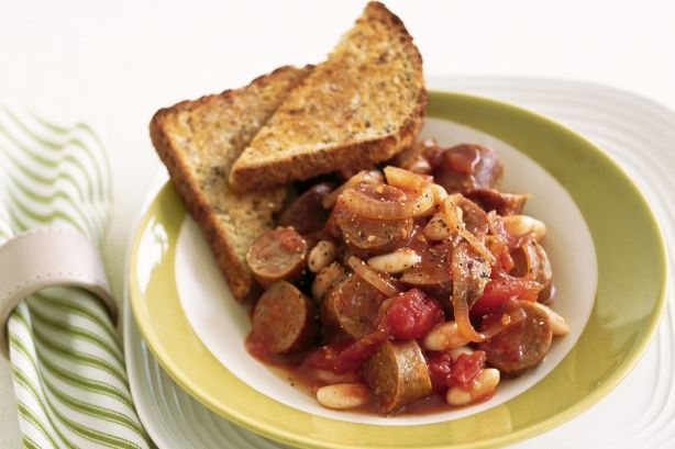 Sausage and beans main image