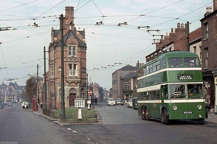 Peveril Street and Alfreton Road, Nottingham, early 1960s.