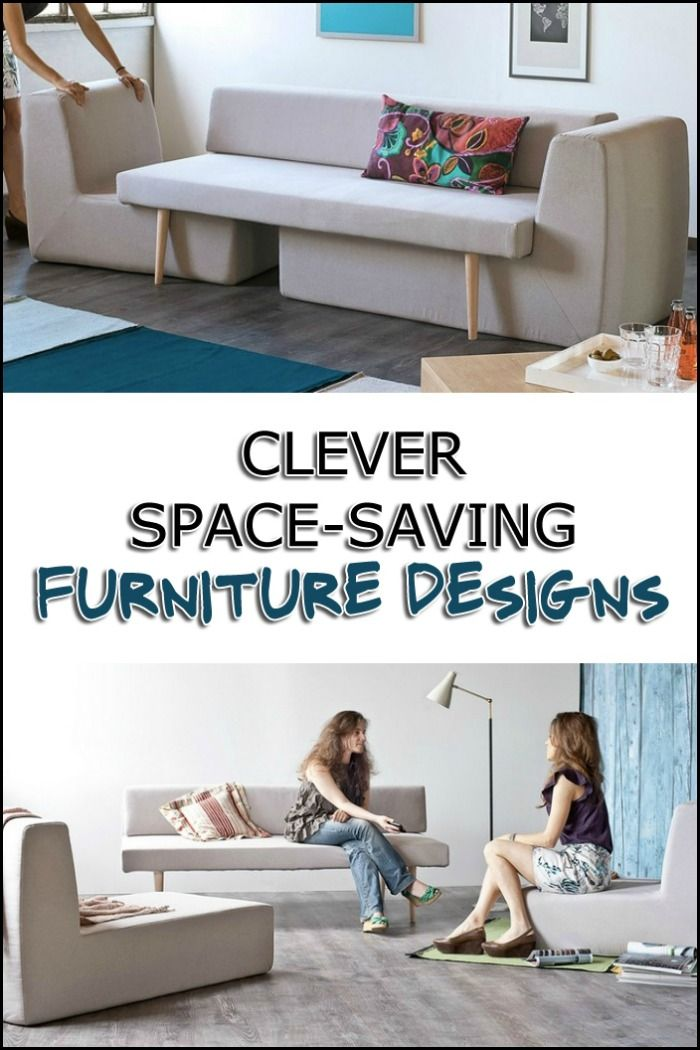 short on space? Then you might need one or two of these space-saving furniture pieces!