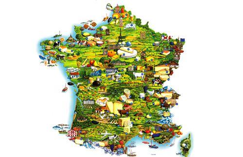 La carte de france des fromages fromages de france - Les cuisines francaises ...