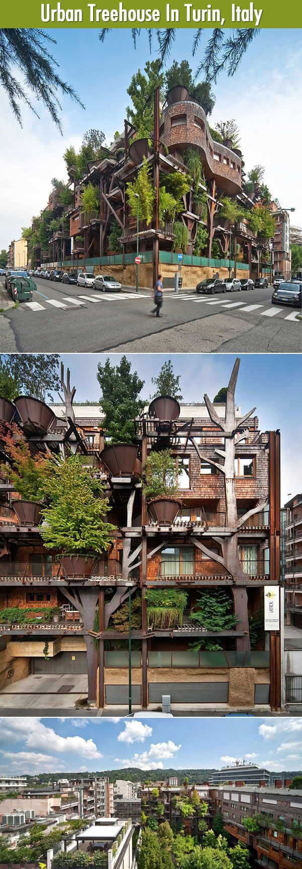 The One And Only, Urban Treehouse In Turin, Italy. | Funny pictures and Inspirational designs.