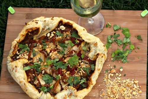 Garlicky Thai Chicken Pizza -- Friday nights are usually homemade ...