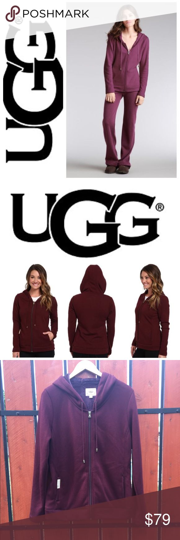 NEW! UGG Australia Benson hoodie in port Introducing the softest hoodie on the planet!  Just in time for the season, this incredibly soft, super comfy zip up hoodie will make the ideal jacket for any occasion or a fabulous gift!  The pretty shade of port is neutral enough to wear with so many shades & the jacket is so soft,  you may never want to take it off!  Size is Large.  Brand new, never worn!  100% authentic!  No trades please. UGG Tops Sweatshirts & Hoodies